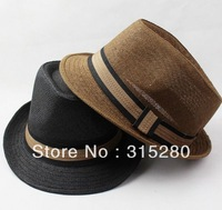 wholesale adult summer good quality casual straw fedora hats