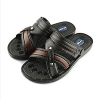 The new 2014 authentic slippers men's summer men's leather sandals male tide han edition Roman sandals