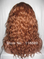 "Glueless Full Lace Wig Human Hair:14"" #30 Natural Wave100%  Brazilian Virgin Hair Wig -fashion wigs"