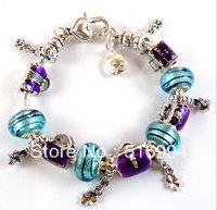 B7 / Free shipping hot sale bracelets sterling silver charm bracelet for woman silver 925 chamilia beads bracelets