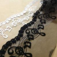 Netting White cotton embroidery cotton applique lace applique 11cm