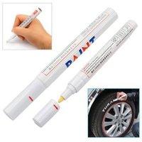 Free Shipping Car Truck Tyre Painting Pens Metalloscopy Twin Pen Tyre Pen Paint Marker Permanent Pen Car Tire Metal Pen
