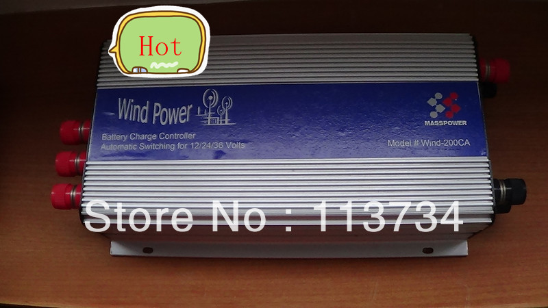 Free Shipping Wind Turbine Charge Controller for 200W and 300W Wind turbine, 12V/24V/36V,factory wholesale(China (Mainland))