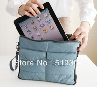 Free shipping Wholesale 4 Colors 2013 New Design Nylon Handbag Orgnizer Bag in Bag for Ipad (OB0239)