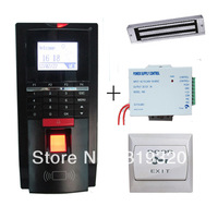 Reland good quality fingerprint and FRID card access control, power supply, magnetic lock, PC exit button access control system