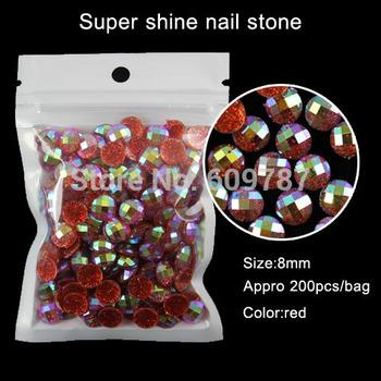 china manufacture 200pcs red fashion nail art nail beauty manicure tool