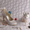Super Quality Silver Satin Lady High Heel China Bridal Shoes Free/Drop Shipping Size 40