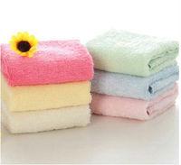 100%bamboo fiber towel babies towel mini mix colours towel 25*25size
