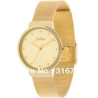 Woman Watch Famous Brand Korea JULIUS Thin Simple Couple Watch,Quartz Round  Men's and Women's Stainless Steel Watch JA-426