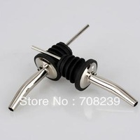 20PCS  stainless steel wine pourers and 20PCS stainless steel straws