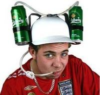 Free shipping Beer Can Holder Helmet Drinking Helmet Drinking Hat,Never have to hold a can to drink