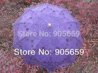 (30 pcs/lot) Handmade Lace Parasols 38''  Wedding Umbrellas Assorted Color