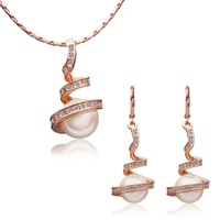 18K Gold Plated Health Wedding Jewelry Sets Free Shipping Quality Guaranteed Rhinestone Made with Austrian Crystal S040