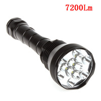 12 x CREE XM-L T6 7200Lm Super Bright LED Flashlight Waterproof 18650 26650 Torch Flash Light Lamp For Outdoors