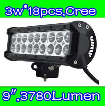truck lights led  54w,9inch   ,Cree chip led , LED light bar for Off road,side by side ,4*4,ATV,UTV,Buck led Free shipping
