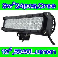 truck lights led  72w,12inch   ,Cree chip led , LED light bar for Off road,side by side ,4*4,ATV,UTV,