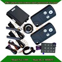 Top Pke car alarm,push button start/stop,remote start/stop,keyless entry,morse decorder,bypass module,car factory standard
