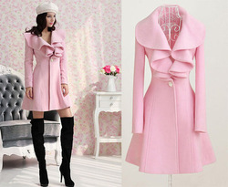 New Women Trench Coat Jacket Parka Fashion Slim Fit Gossip Girl Outwear XC842579(China (Mainland))