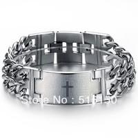 Free Shipping Charming Men's Watch Bangle Fashion Bible Cross Titanium Bracelet n620