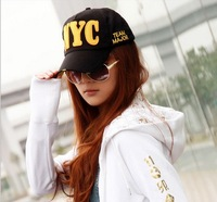 Free shipping,1pcs,South Korean baseball caps men and women lovers cap NYC summer leisure peaked hat.