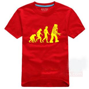 The BIG BANG Sheldon Cooper The Evolution Of Man Geek Logo Tshirt 5 Color 6 Size
