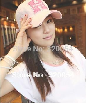 1 шт., H письма бейсболки, Женщины в разрез фуражке шляпа, Многоцветный
