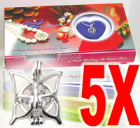 Wholesale 5X Mix different pendants Wish Pearl Necklace gift set box-who3622 Free shipping Wholesale/retail
