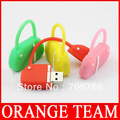 Free Shipping 4GB 8GB 16GB 32GB Cute colorful handbag USB 2.0 flash drive disk(four color for choose)