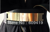 Fashion for Woman Gold Metal Elastic Belt Size Adjustable Clothes women accessories 2013 mirror belt LM-ZJ01