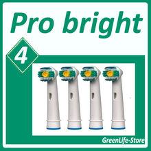 4 Stücke Ersatz pro helle passt für 3D weiß SB18-4A Oral B elektrische Zahnbürste Köpfe Vitality Precision Clean Zahnbürsten(China (Mainland))