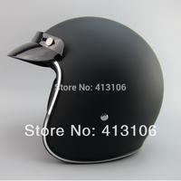 Free shipping/Motorcycle helmet/Jet helmet/Fiber glass material /Vintage helmet/Open face retro 3/4 half helmet/matte black