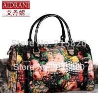 2013 fashion vintage oil painting rose bag shoulder bag formal all-match handbag messenger bag