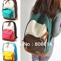 Sweet Colors Women Lady New Korean Version Canvas School Campus Book Backpack Shoulder Bag