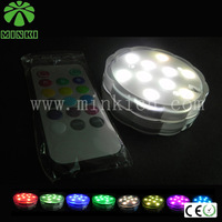 MINKI IP68 DC4.5V  waterproof  free shipping  remote control led   wedding favors