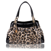 2013 Fashion New Designer Luxury Classic Leopard Genuine leather brand name bags for women ,real genuine leather handbag