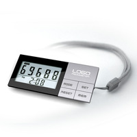 Free shipping 3D Sensor multi function pedometer with 7 days memory and clock