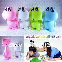 Free Shipping 2013 newest cartoon bear LED desk light / kids desk light /children table light more colors for you