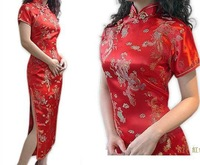 Charming sexy Chinese Women's Long Evening Dress Cheongsam Size:S-3XL(HOT)