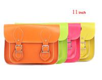 Classic design & fashion candy color! Cute antique style genuine leather woman satchel/handbag (Small)(B0292)