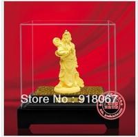 YZ-R2002 CBRL gold craft/24K gold craft/art gift/ Gold Warrior God Guan Gong Wealth Feng Shui Statue for hot sale