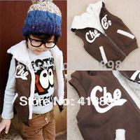 2014 Winter thickening female coats trend male child thermal vest autumn children's clothing child plus velvet free shipping