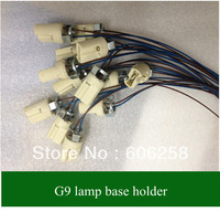 G9 Crystal Bulb Lamp  BASE Ceramic Socket Lamp Holder  10pcs Free Shipping