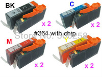 8 pcs New Compatible ink cartridge for HP 364 364XL B8550 C5324 B109a B209a C309a