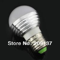 6w LED bulb,Dimmable Bubble Ball Bulb AC85-265V , E14 E27 B22 ,silver shell color,warm/cool white,3*2w +freeshipping