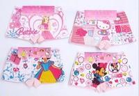 free shipping! Cartoon Children's 100% cotton kid short underwear kids panties 7 designs available