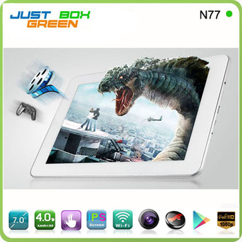 "Cheapest choice!Free shipping Sanei N77 fashion 7"" WiFi Capacitive Tablet Cortex A8 1.2GHZ+3D+1080P+android4.0+512MB+8GB"