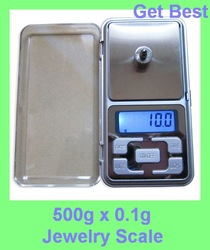 Free drop shipping 500g x 0.1g Mini Electronic Digital Jewelry weigh Scale Balance Pocket Gram LCD Display With Retail Box(China (Mainland))