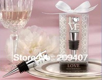 200pcs/lot LOVE Chrome Bottle Stopper Wedding Favor Gift