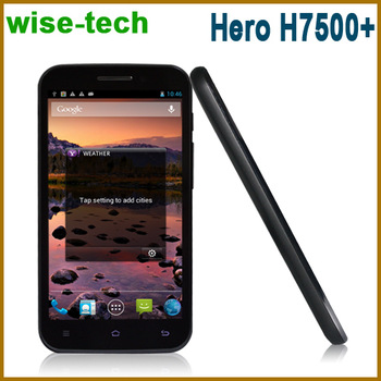 """Free shipping Hero H7500+ Quad Core 5"""" Android 4.1 MTK6589 cortex A7 3G smartphone 1gb RAM Dual Cameras 1280*720/Ammy"""