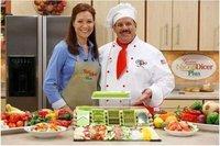 Free Shipping Nicer Dicer Plus As Seen On TV,Dice Chop Julienne Fruit Vegetable Multi-Chopper,Food Slicer